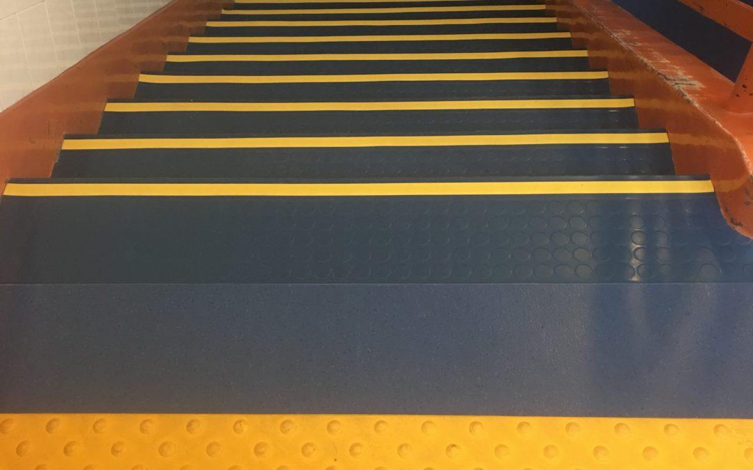 Revêtement de sol sur escalier