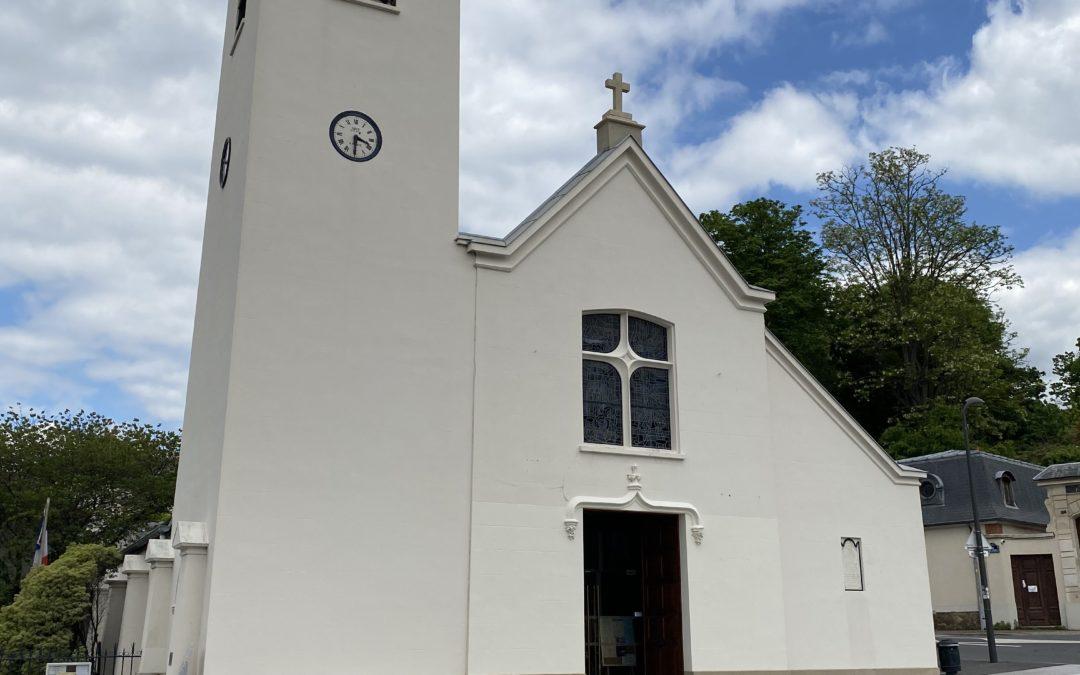 Nettoyage de façades de l'église de BRY SUR MARNE